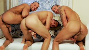Jimmy, Jason and Joey are at it again in this hot threesome