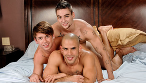 Join Austin, Johnny and Reed for a sexy photo shoot in bed!