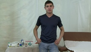 Hot gay boy gets his chest measured during his lusty physical examination.