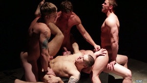 Connor Kline & Jake Wilder are the bottoms getting banged by Jake Wilder, Tom Faulk & Travis James in the latest scene from MEN.COM's Jizz Orgy. The action happens in a cold dark room where fucking is the only way to bring the heat!