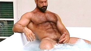 Nice stud with smoking hot body stroking his hard dick here