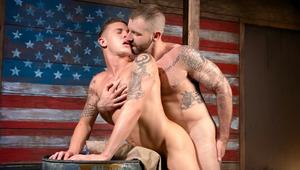 James bends over a barrel to get pummeled by daddy Aleks