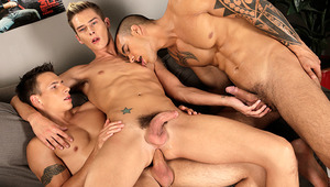 Has there ever been a hornier slut than Brit-boy Connor Levi? That may well be the question that you're asking yourself at the end of this truly superb threeway with Czech beauties, Dick Casey and Tom Crua. Of course, it's really no great wonder that