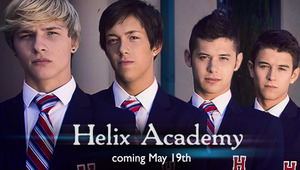 The wait is almost over! Debuting this Sunday, May 19th is the first scene from The Helix Academy! The Helix Academy is a new series about fine boarding school twinks featuring super hunk Evan Parker, blond seductress Jessie Montgomery, the irresitably