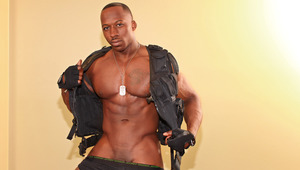 Derek strips out of his SWAT uniform & lathers himself up