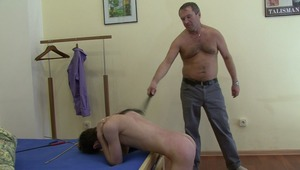 fine twink is putting up with masters bdsm lashing for gay lord wants his total submission in bdsm tape.