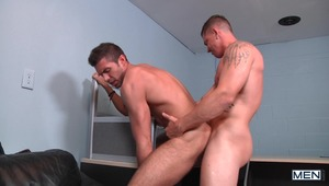 "Sebastian Young is the lucky ""Next Bottom"" game show contestant who gets to pick one of 3 doors to find a horny bottom to fuck. Sebastian realizes he hit jackpot when Sam Northman walks out and he immediately puts him to work sucking his big dick. With a"