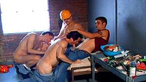 Nice charming men Enjoy Fucking Hardcore During Group Sex