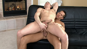 Mason bend his buddy over and gives him a strong booty fucking