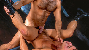 Orgy becomes a 5-man fuckfest with tons of licking & blowing