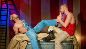 Carny Preston wonders if Logan can lick penis as well as feet
