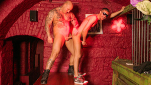 fine lean Alex strips his undies in front of skinhead Devil