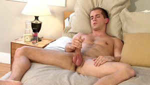 gorgeous stud stroking his hard meat while being filmed