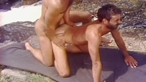 Incredible gay sex next to a waterfall between two hot guys!