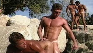 Very hot guys are next to the pool and they lick and fuck !