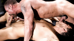 These fierce dudes, eat each others ass and blow on hard dong