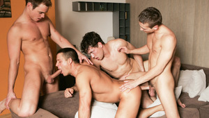 Julian Vincenzo watches a group of hungry boys fuck and blow