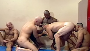These muscular buddies are enjoying each others hard dick!