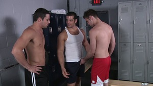 Marcus Ruhl is instantly hard at the sight of his ex boyfriend Jack King.  So much that he fails to notice Jack's new boyfriend, Duncan Black. Duncan doesn't mind the snub and in fact gets to work on Marcus and in turn instigates one of the hottest 3ways
