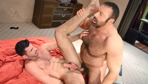 Manly hairy buds Brad & Billy rub & grind their fur together