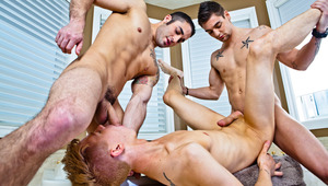 Samuel O'Toole, Johnny Torque and Kyler Ash in a hot 3some