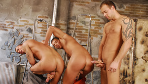 The 3 Brothers are ready for some stroking after work!