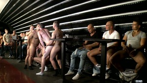 The final episode of MEN IN BUDAPEST features our Americans and their tour guide set to end their trip with a bang - a gang bang!  The boys put on a show to lure in some hunky Hungarians and while some remain spectators, Kyle Braxton & Gabe Russel don't h