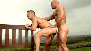 attractive lover get his ass screwed hard by a muscular stud (HD)