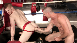 James gives Ryan a hard muscular fist into his stretched behind