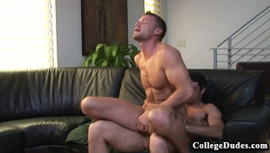 Buddy Davis heats up the screen with Logan Holmes tonight! Cock-hungry Logan licks Buddys luscious rod until his spit is dripping down Buddys shaft and balls.