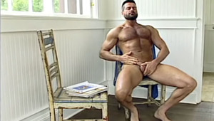 This humongous lover starts him in the shower to finish on a chair.