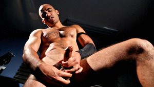 hot hairy and horny dude shows off his tight ass, and cums