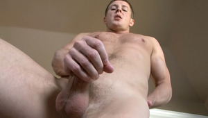 Mr. D grabs ahold of his penis and gives it a hard stroking!