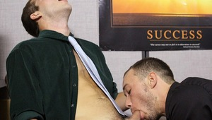 New office lover Austin Ried is welcomed to the job by horny Kirk Cummings!