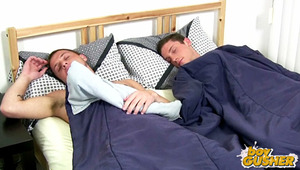 We have Travis and Scott with us. We woke the boys up and gave them grief in hopes of catching some morning wood. These boys weren't hard, yet? just wait and watch what happens.