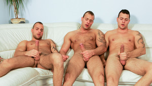 A very hot jack off session with the cute Visconti triplets