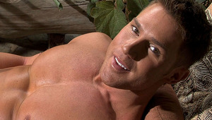 All outdoor interview and solo scene with the horny Benjamin