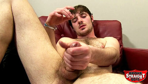 In this update Robert jerks off his massive dick the first time he comes to Broke Straight Boys