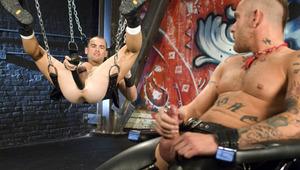 Club Inferno fist pig Nick Piston finds Jessie Balboa ass-up