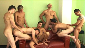 Horny Group Of guys Banging & blowing Each Other Hardcore