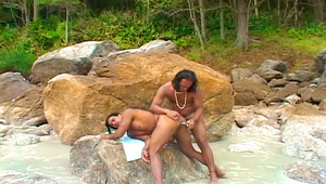 Gay anal sex fantaisies on a beach fucking in the sand !