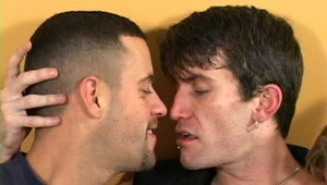 Firm bodied gay Rob kissing 2 handsome twinks with lust