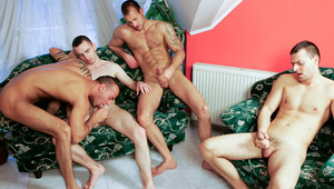 Joey, Jimmy and Jason Visconti in a very hot foursome scene
