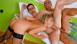 hot bisex threesomes with giant anal cumshots and dong suckin