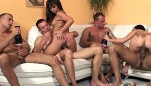 Visconti triplets fucking every man and girl in living room!