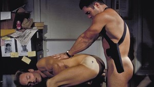 Officer Moreno throws Miles on the desk and rides him hard!