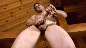 Don't miss this awesome hunk playing with his erect dong!