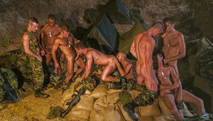 This abridged DVD scene shows off the best of the army orgy