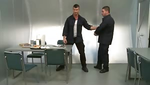 Sergeant Adam Killian is not impressed with Private Marc Dylan's sloppy habits. Adam summons Marc to his quarters for some corporal punishment.