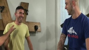 Sam is at again! This time around, Antonio wants to buy Sam's exam table for his new sex club and Sam is more than willing to negotiate the price; that is, if negotiating means dropping his enormous rod into Antonio's mouth and ass. Antonio was more than